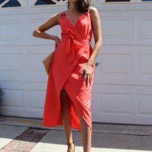 🆕️//The St. Tropez/ Coral wrap dress